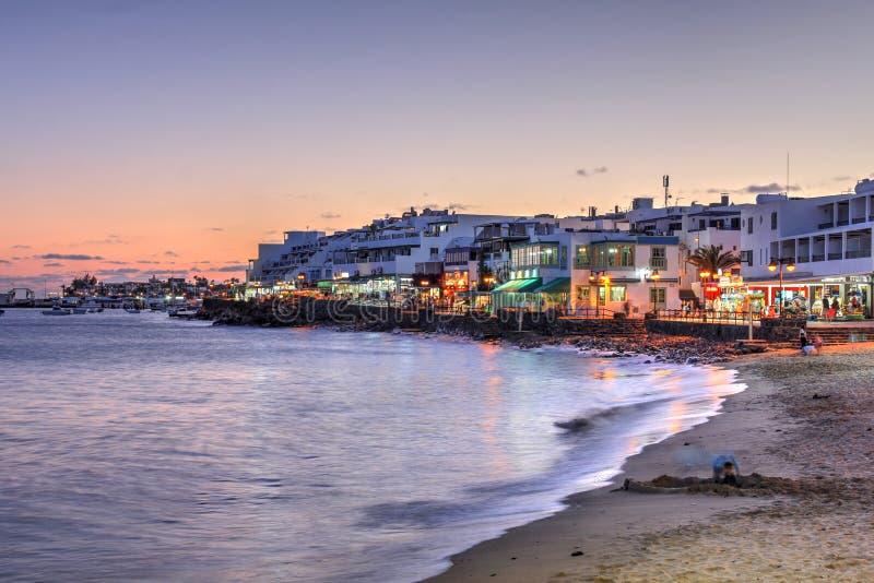 Playa Blanca, Lanzarote, Canary Islands, Spain royalty free stock photos