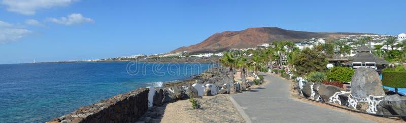 Playa Blanca-promenad arkivbilder