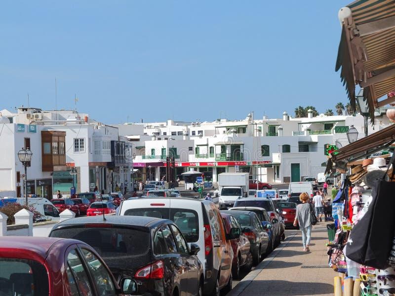 Playa Blanca Town Centre Lanzarote lizenzfreies stockfoto