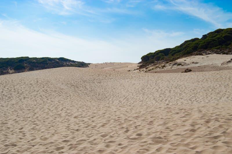 Playa Bolonia de las dunas imágenes de archivo libres de regalías