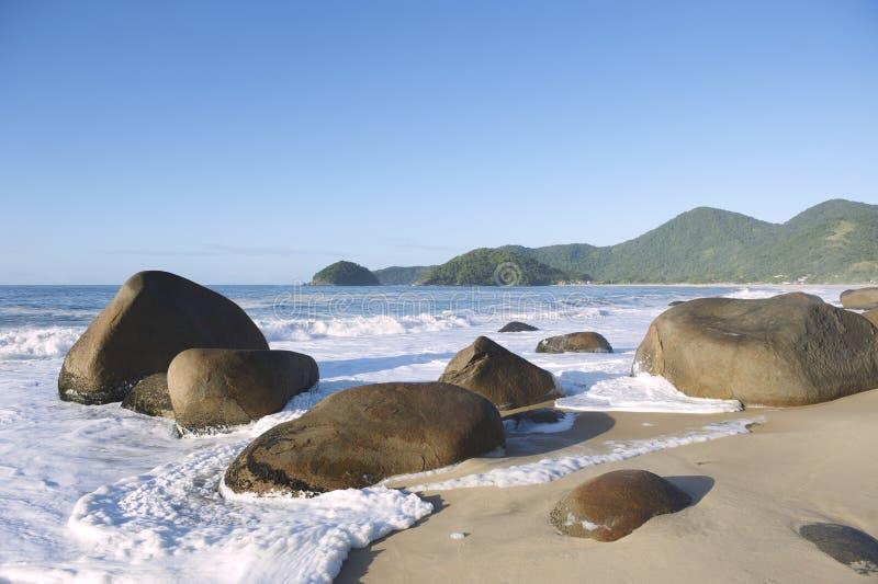 Playa brasileña escénica Trindade Paraty el Brasil imágenes de archivo libres de regalías