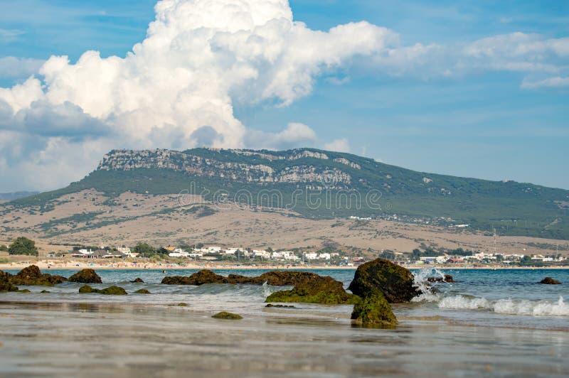 Playa Cádiz España de Bolonia imágenes de archivo libres de regalías