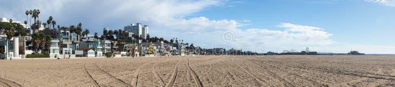 Playa CA de Santa Mónica del panorama fotografía de archivo libre de regalías