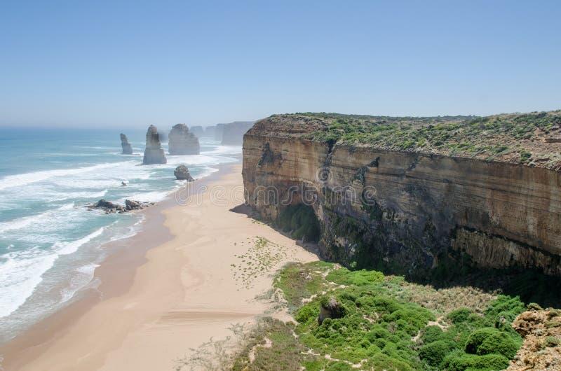 Playa cerca de doce apóstoles imagen de archivo