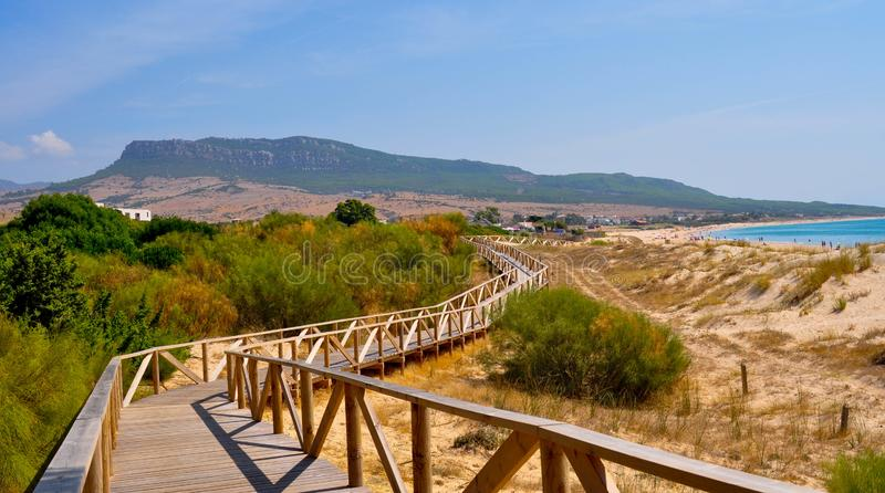 Playa cerca de Tarifa en Andalucía en España foto de archivo libre de regalías