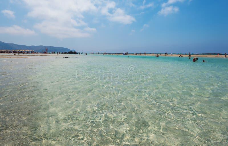 Playa Chania de Elafonisi fotografía de archivo libre de regalías