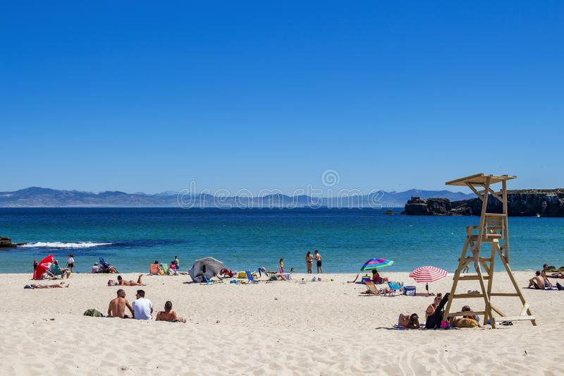 Playa Chica in Tarifa, Andalusia, Spain royalty free stock image