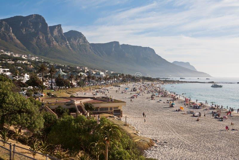 Playa Ciudad del Cabo de la bahía de los campos imagen de archivo libre de regalías