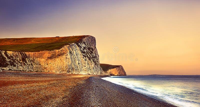 Playa Cliff Concept del destino del viaje de la puerta de Durdle fotografía de archivo libre de regalías