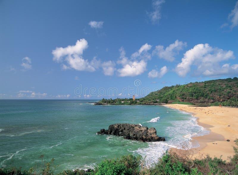 Playa con el mar fotos de archivo libres de regalías