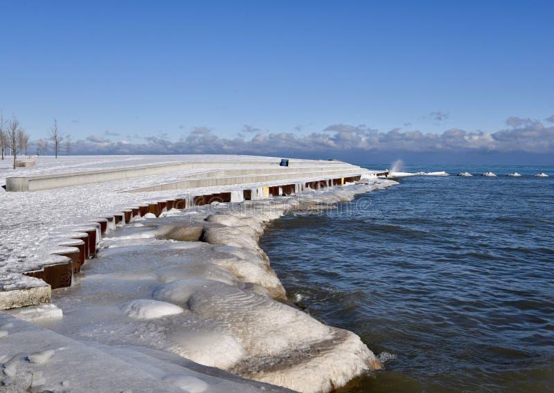 Playa congelada de Fullerton imagen de archivo libre de regalías