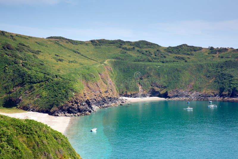 Playa Cornualles Inglaterra de la bahía de Lantic cerca de Fowey fotos de archivo libres de regalías