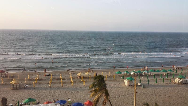 Playa Costa de Cartagena colombia image stock