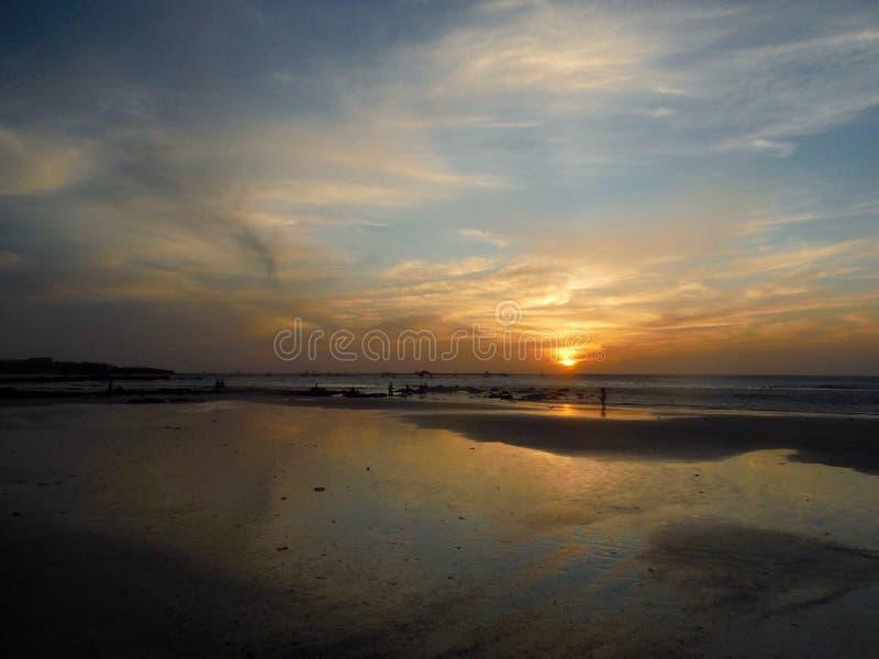 Playa Costa Rica Sunset del tamarindo foto de archivo
