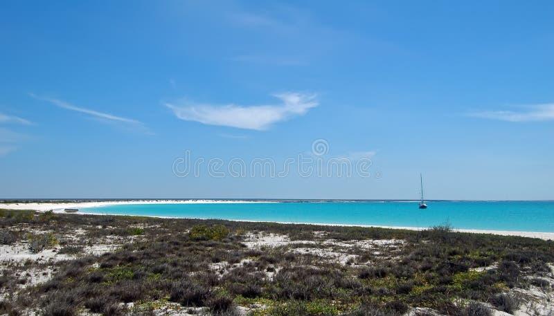 Playa crescent blanca imágenes de archivo libres de regalías