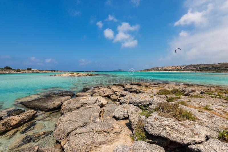 Playa Creta de Elafonisi fotografía de archivo