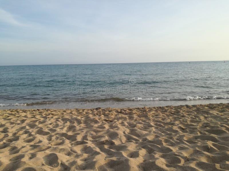 Playa de帕尔马能Pastilla海滩 免版税图库摄影