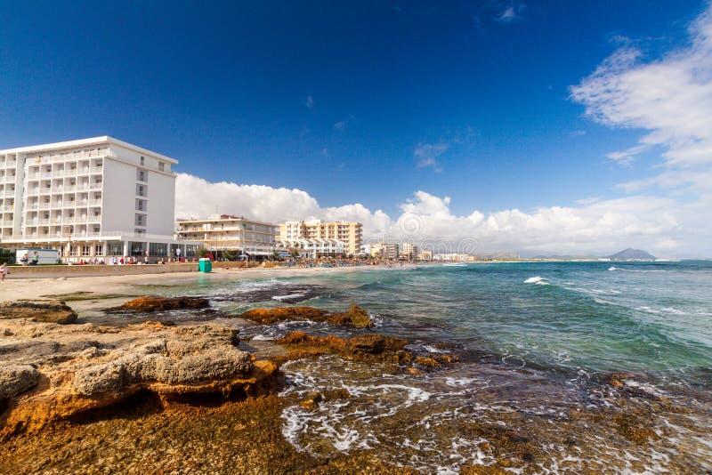 Playa de穆罗角海滩 库存照片