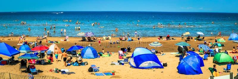 Playa de Aboiteau, Nuevo Brunswick, Canadá foto de archivo