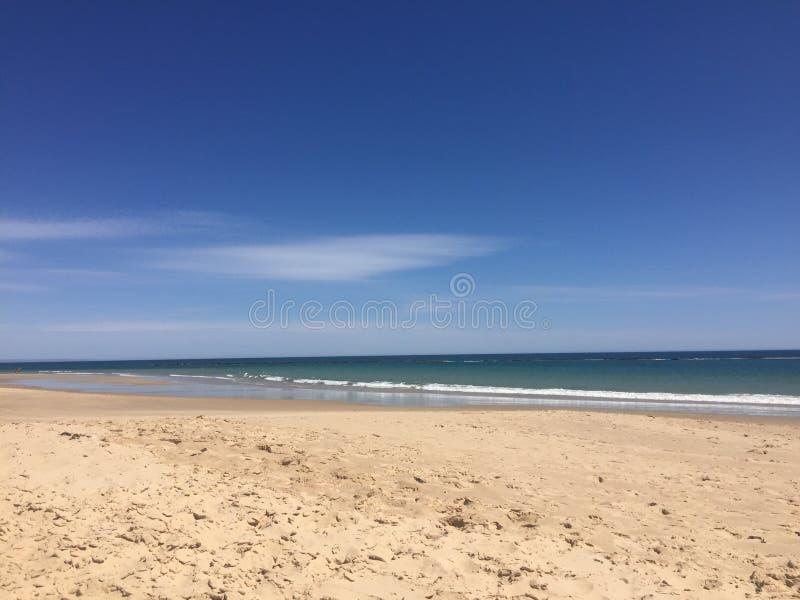 Playa de Adelaide Australia, puesta del sol imagen de archivo