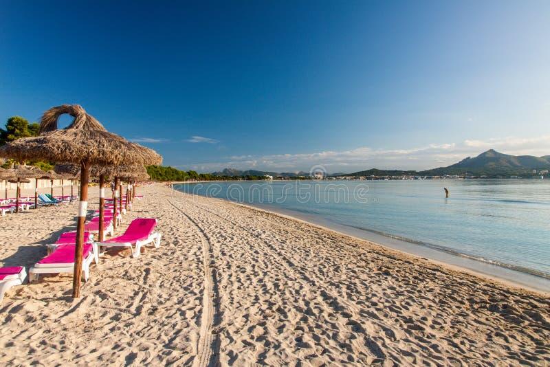 Playa de Alcudia foto de archivo