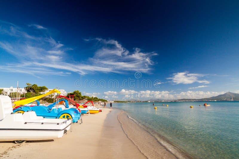 Playa de Alcudia fotografía de archivo