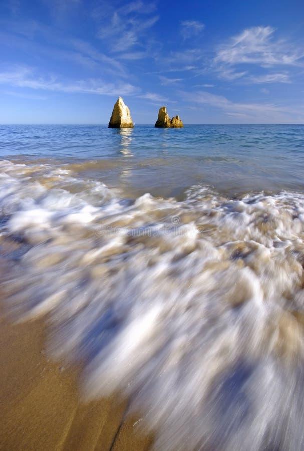 Playa de Algarve imagenes de archivo