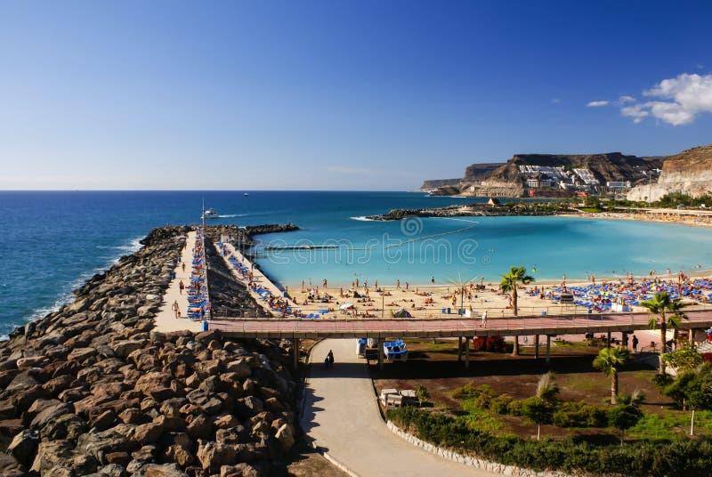 Playa de Amadores,波多黎各,大加那利岛 免版税库存图片