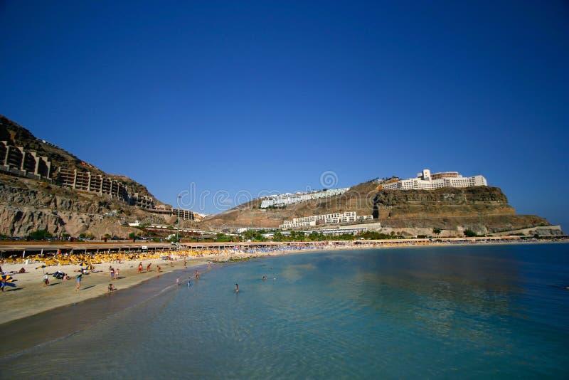 '' Playa de Amadores '' famoso. fotografia stock libera da diritti