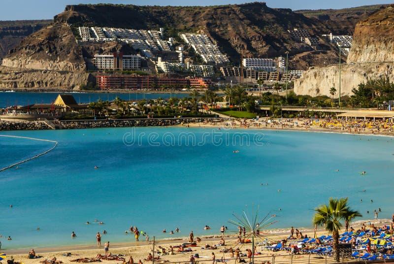 Playa DE Amadores, Puerto Rico, Gran Canaria stock foto