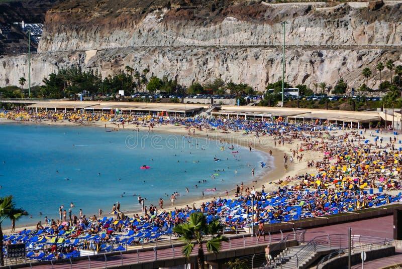 Playa de Amadores, Puerto Rico, Gran Canaria fotografía de archivo libre de regalías