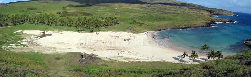 Playa de Anakena foto de archivo libre de regalías