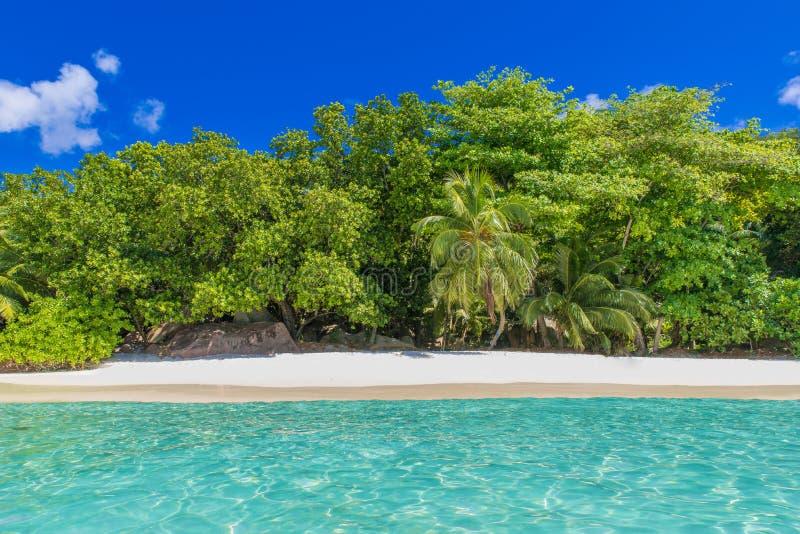 Playa de Anse Lazio - de Paradise en Seychelles, isla Praslin fotografía de archivo