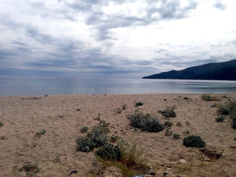 Playa de Asprovalta imagen de archivo