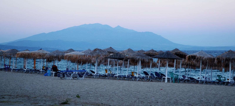 Playa de Asprovalta imágenes de archivo libres de regalías