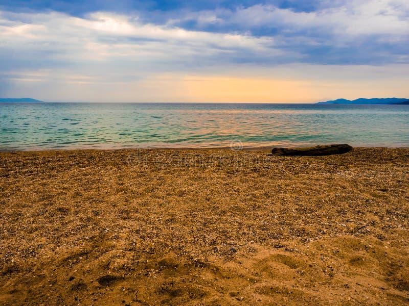 Playa de Asprovalta fotos de archivo libres de regalías
