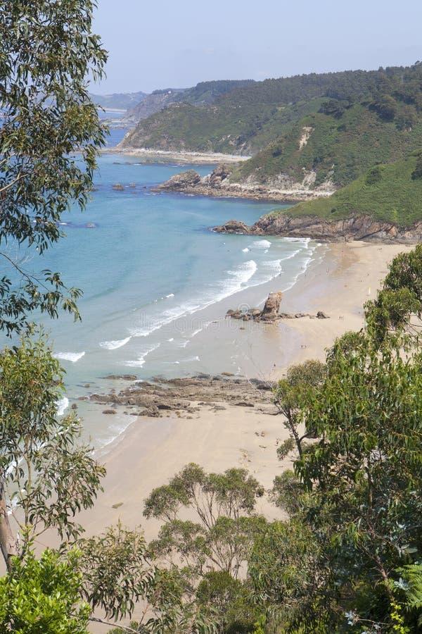Playa de Asturias foto de archivo