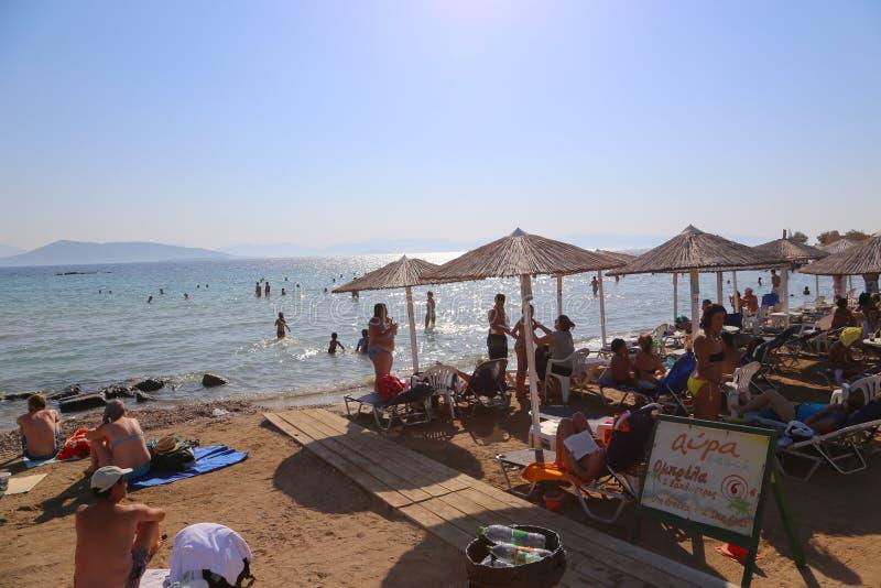 Playa de Atenas, Grecia imagenes de archivo