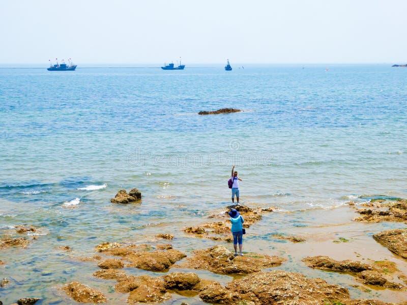 Playa de baño de la ciudad de Qingdao foto de archivo libre de regalías