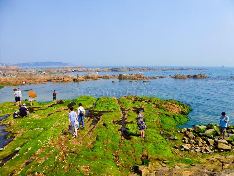 Playa de baño de la ciudad de Qingdao fotografía de archivo libre de regalías
