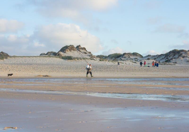 Playa de Baleal en el final de un día de verano en Peniche, Portugal fotografía de archivo