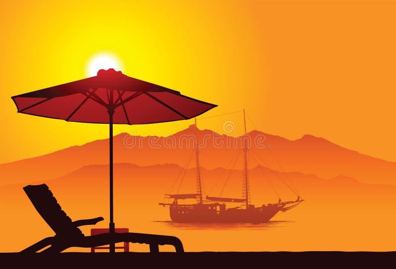 Playa de Bali ilustración del vector