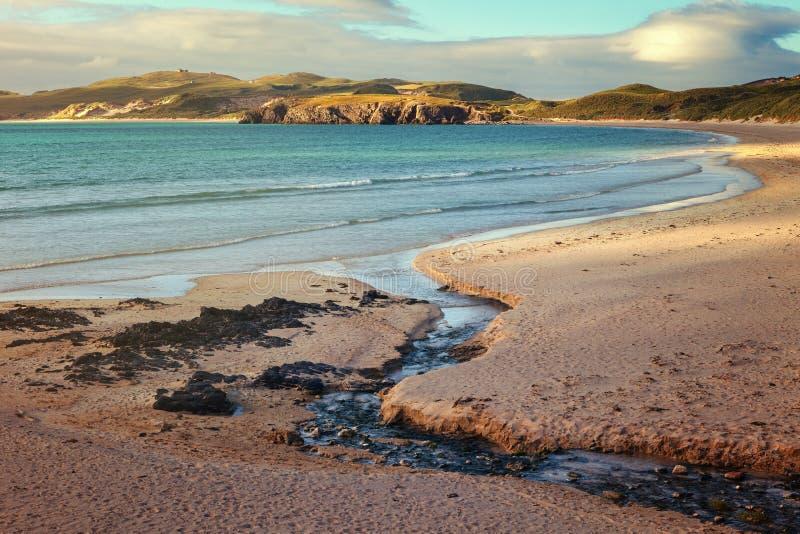 Playa de Balnakeil cerca de Durness en Sutherland en el noroeste lejano imagenes de archivo