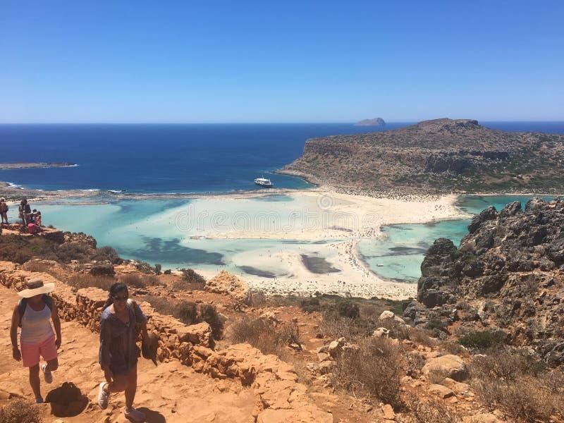 Playa de Balos imagen de archivo