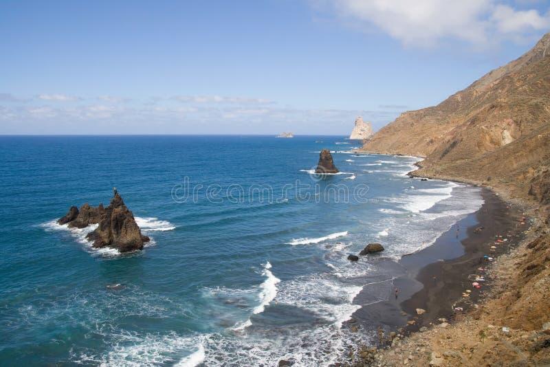 Playa de Benijo photographie stock libre de droits