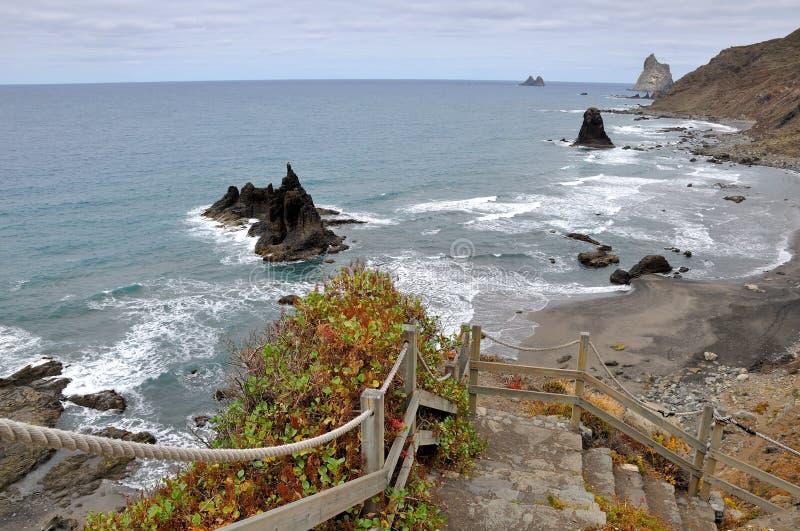 Playa de Benijo Ténérife l'espagne photos libres de droits