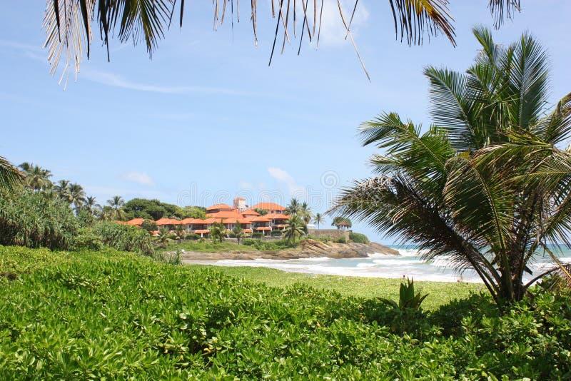 Playa de Bentota, Sri Lanka imagen de archivo