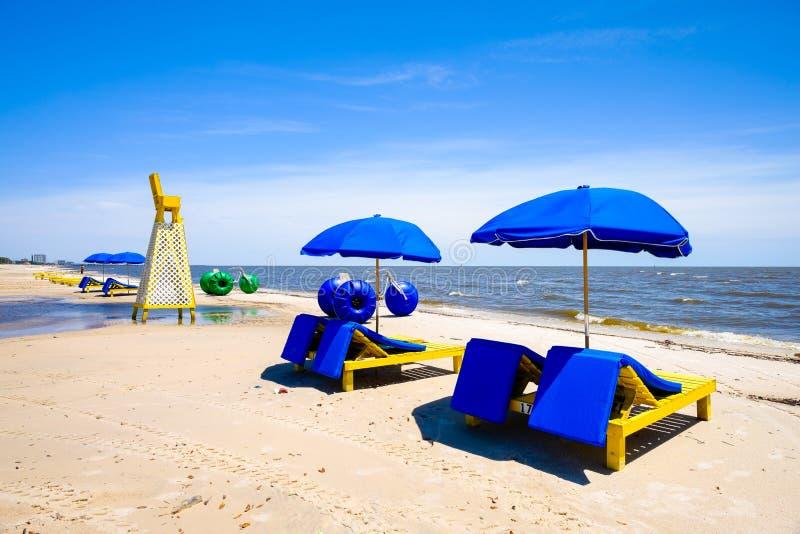 Playa de Biloxi imagen de archivo