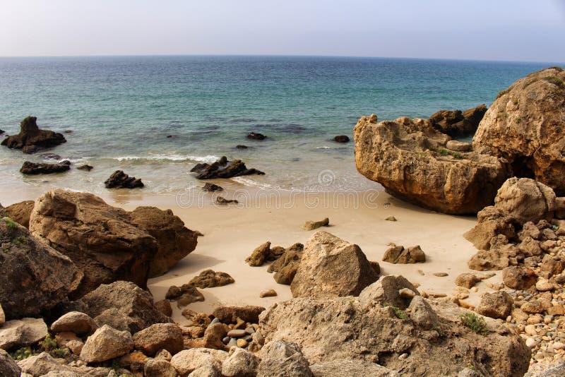 Playa de Bolonia a Andaluzia do Virgin fotos de stock