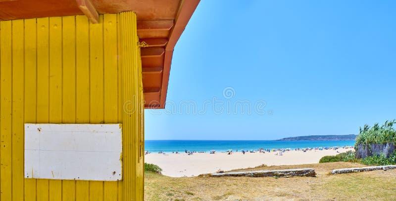 Playa DE Bolonia Beach Tarifa, Cadiz, Andalusia, Spanje royalty-vrije stock fotografie